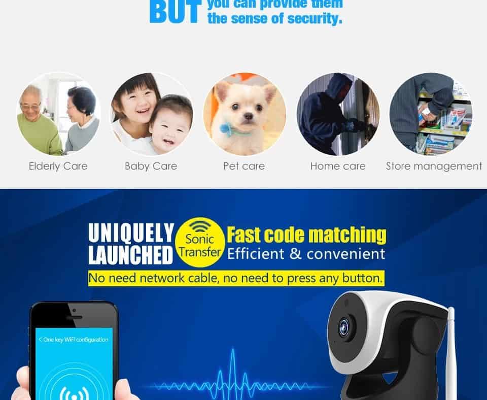 Vstarcam C7824WIP Baby Monitor wifi