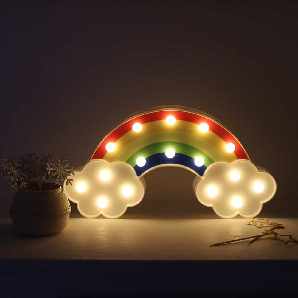 Night Light Rainbow Wall Lamps