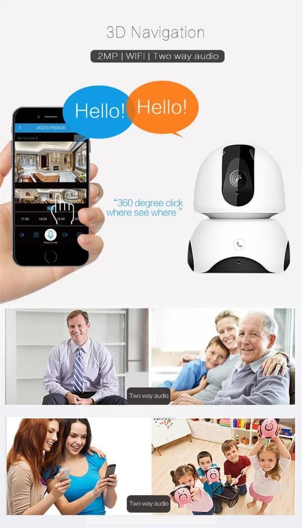 HD 1080P Baby Monitor Cloud Wireless