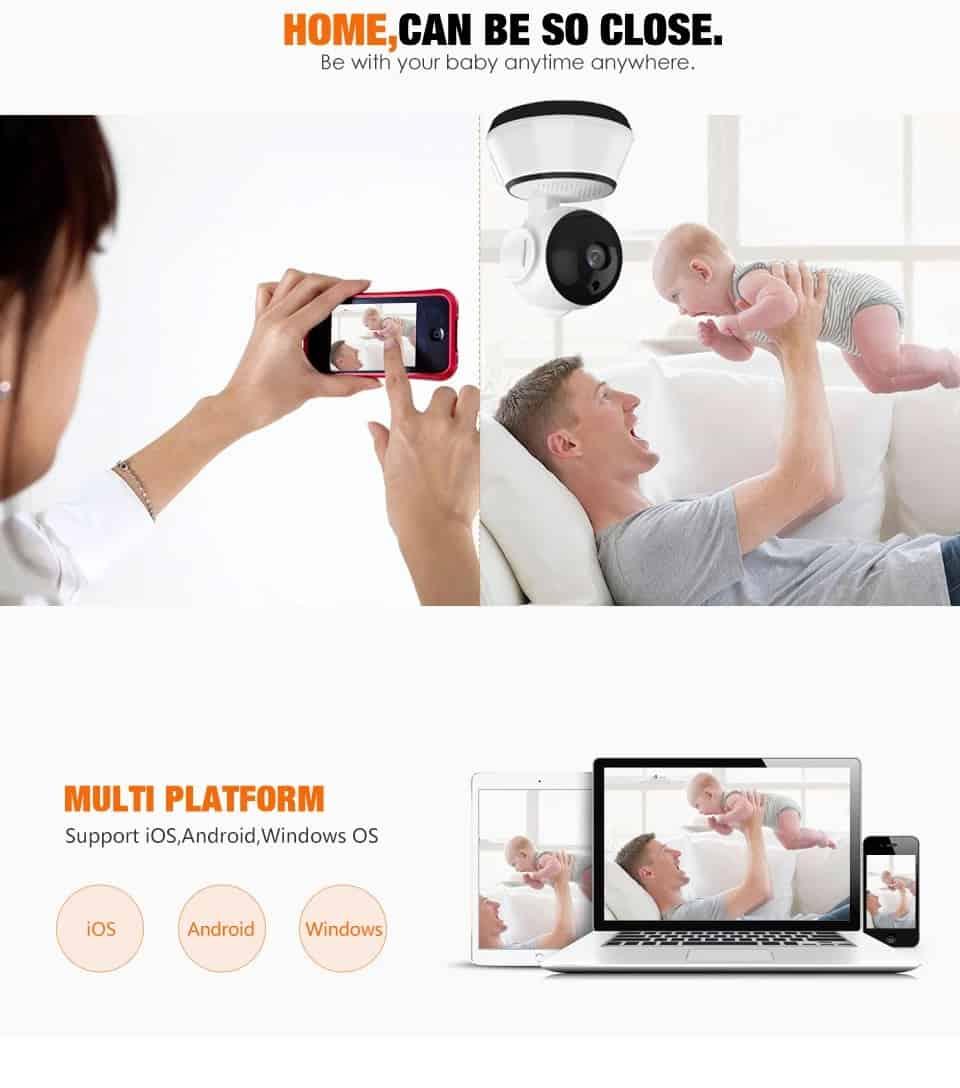 720P WiFi Mini Baby Monitor