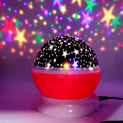 Novelty LED Rotating Star Projector Lighting Moon Starry Sky Children Baby