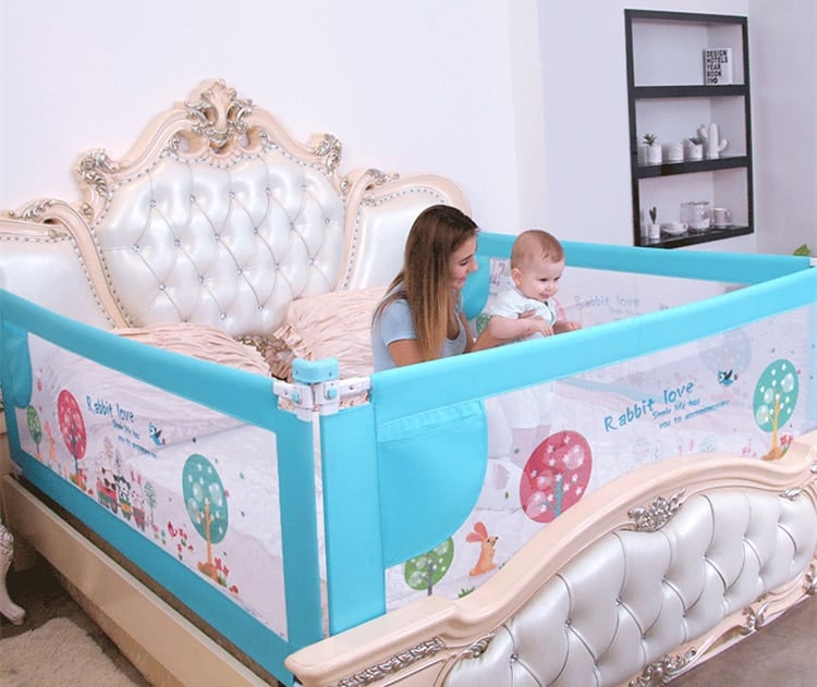 Baby Bed Fence Home Kids playpen Safety Gate