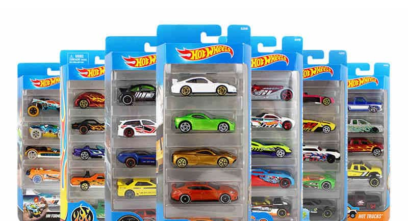 5pcs/pack Original Hot Wheels 1:64 Metal Mini Model