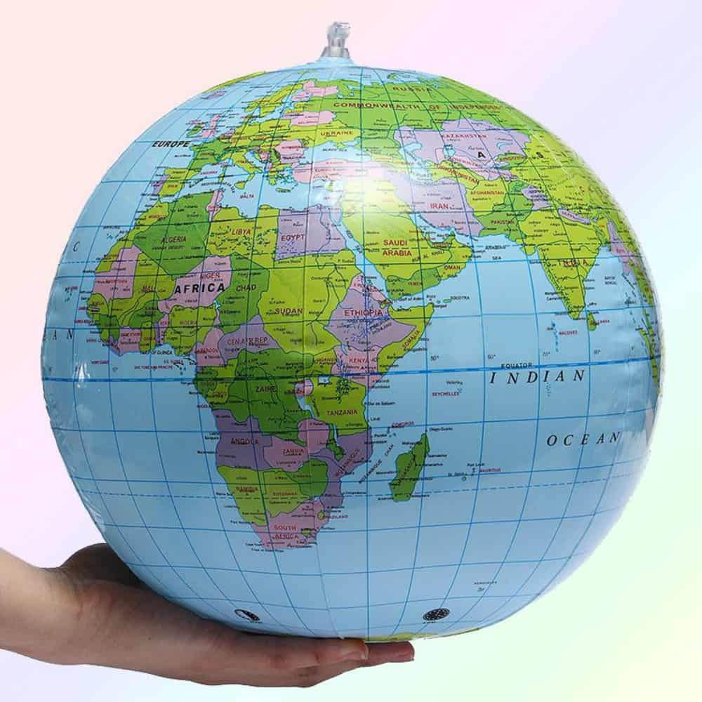 30cm Inflatable Globe World Earth Ocean Map Ball Geography