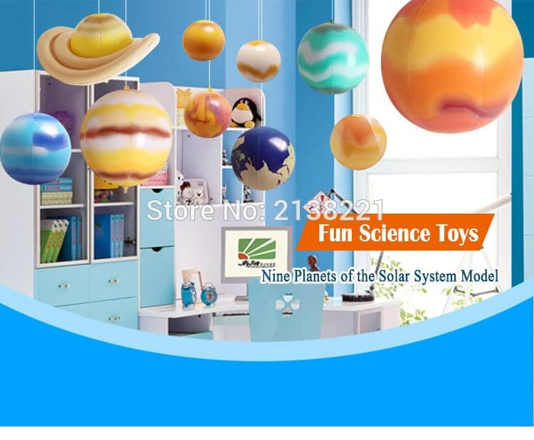 10 Pieces/Set Solar Galaxy Teaching Model Balloons