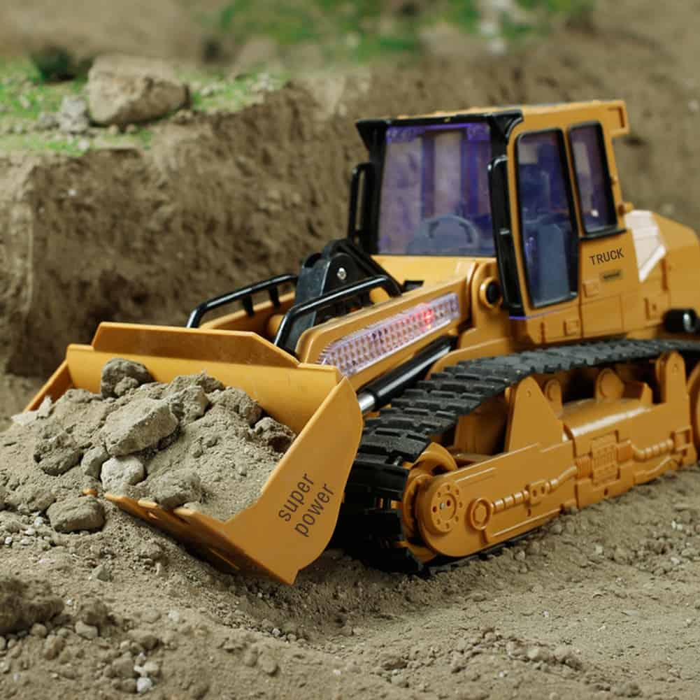 XM-6822L RC Truck 6CH Bulldozer Caterpillar Tractor Car