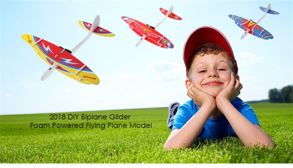 2019 DIY Hand Throw Flying Glider Planes