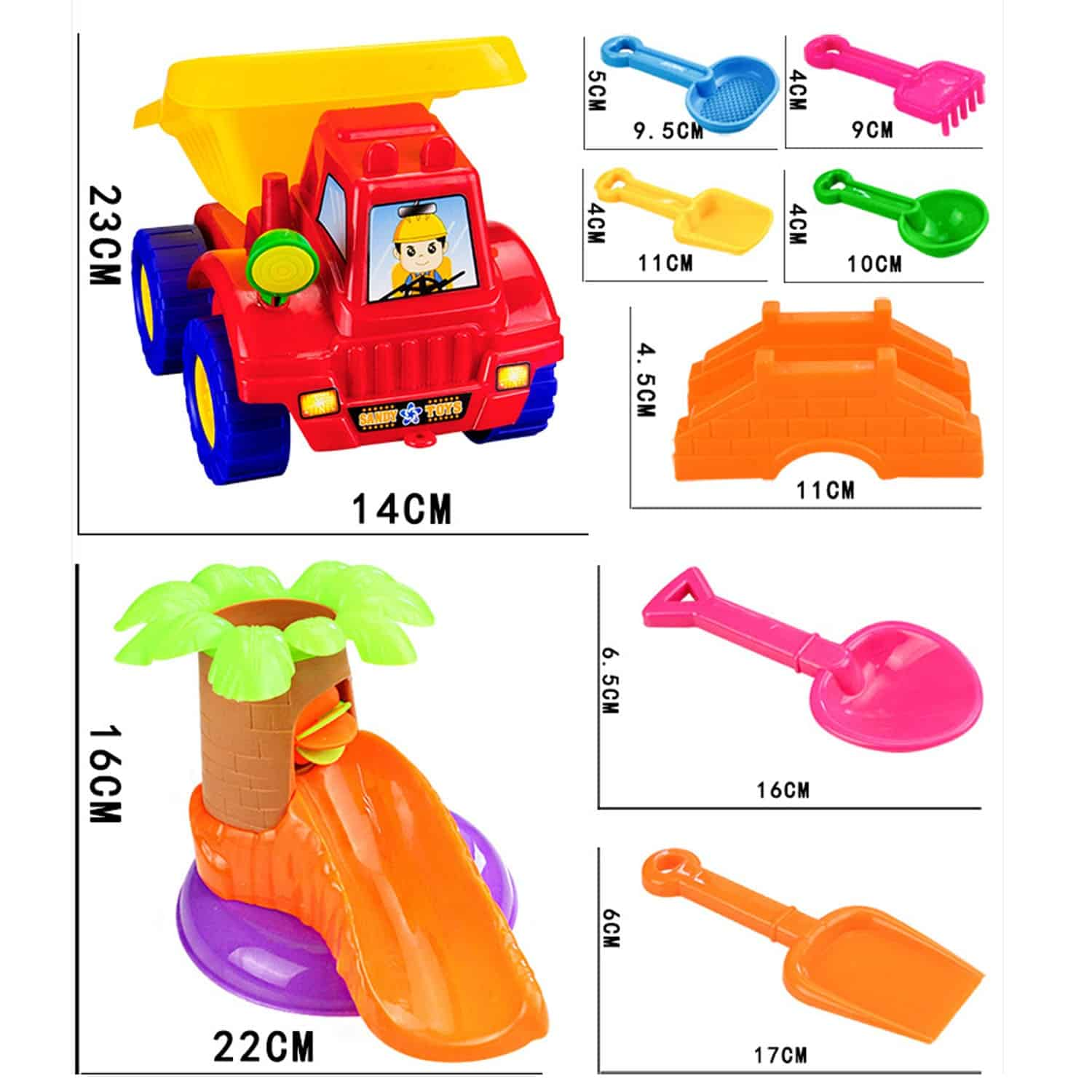 20Pcs Funny Kids Beach Sand Game