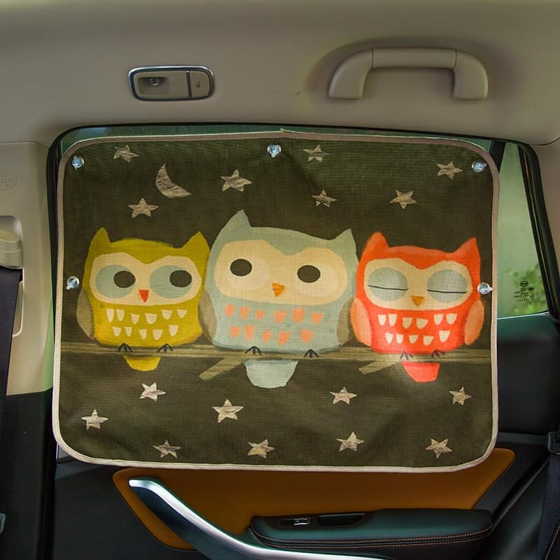 Clever shape and design car shade for baby