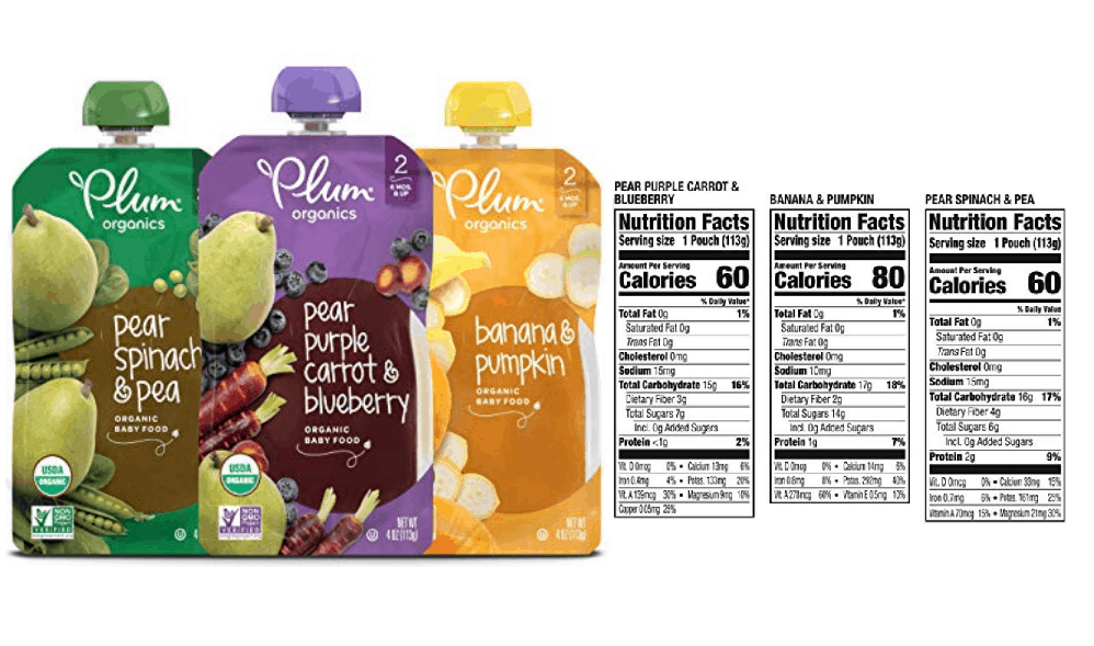 Plum Organics Stage 2 Fruit and Veggie Variety Pack