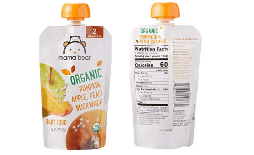 Mama Bear Stage 2 Organic Baby Food