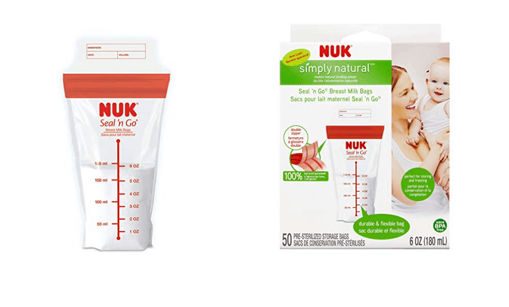NUK Seal and Go Breastmilk Storage Bags