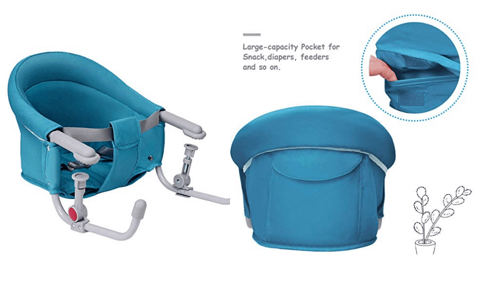 Costzon Baby's Fast Hook On Table Chair