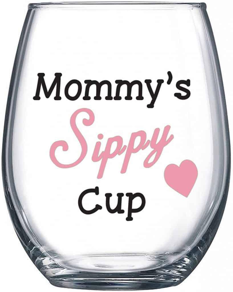 best mom ever wine glass