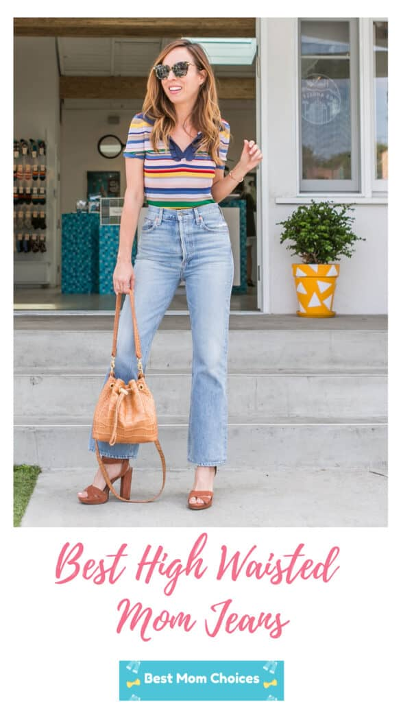 best high waisted mom jeans